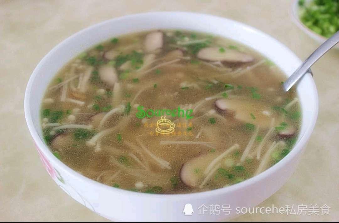 菌菇肉片汤