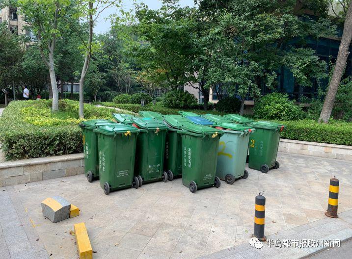 直击胶州垃圾分类现状:有垃圾分类桶但垃圾仍...
